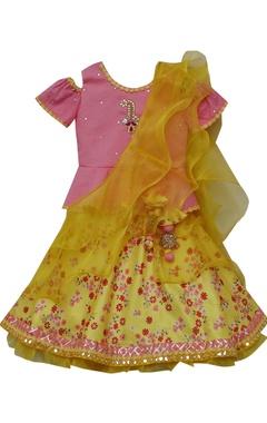 Mirrork work blouse with dupatta & skirt