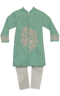 Fayon Kids Cotton silkn embroidered sherwani