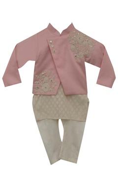 Fayon Kids Embroidered jacket with kurta & churidar
