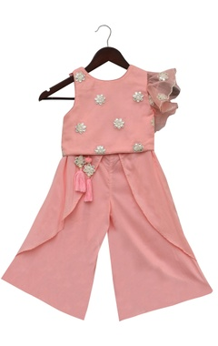 Fayon Kids Embroidered top with palazzo pants