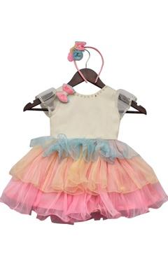 Organza frill dress