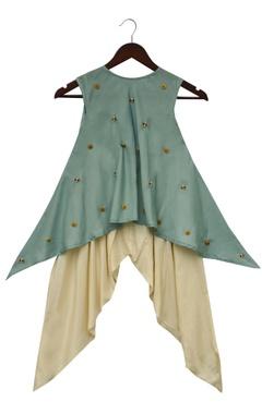 Silk kurta with dhoti pants