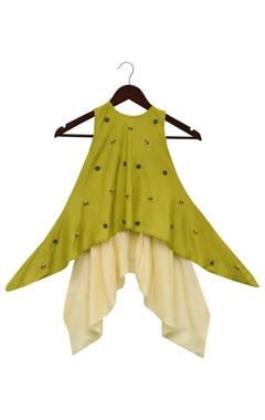 Asymmetric kurta with dhoti pants