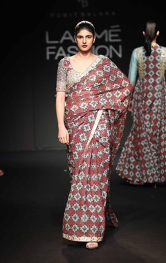 Punit Balana Chiffon sari with blouse