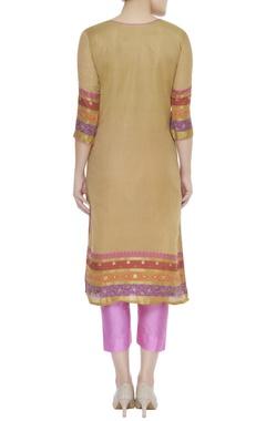 Zari work embroidered kurta with pants & banarasi dupatta