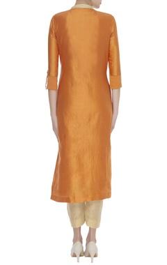 Straight fit kurta set with phulkari dupatta