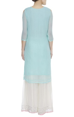 Gota patti embroidered kurta with sharara & dupatta