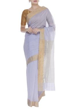 Pure chanderi sari & unstitched blouse
