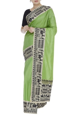 Tribal banarasi sari & unstitched blouse