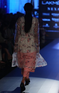 Hand embroidered jacket with tunic & pants