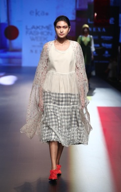 EKA Organza dress with inner & tunic