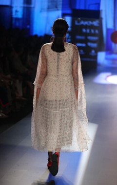 Organza dress with inner & tunic