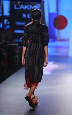 Merino wool tunic with skirt