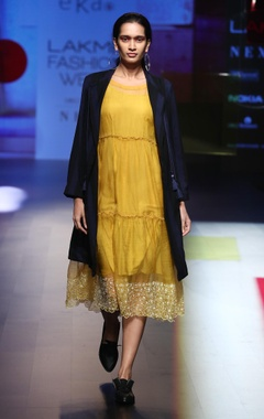 EKA Midi organza dress with jacket