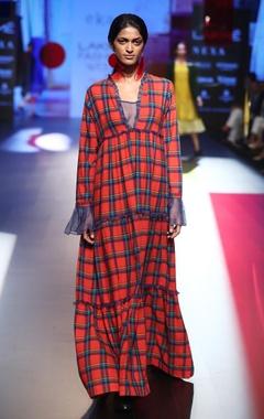 EKA Checkered maxi dress