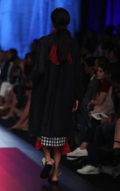 Checkered khadi tunic set