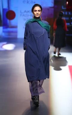 EKA Ruffle organza tunic with pants