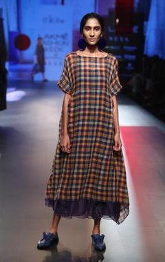 EKA Asymmetric dress with slip & jumpsuit