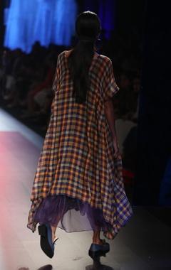 Asymmetric dress with slip & jumpsuit