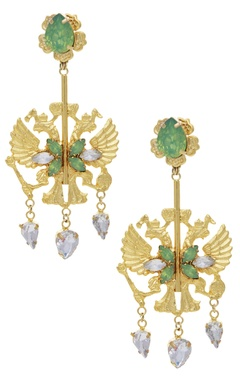 Earrings with swarowski crystals