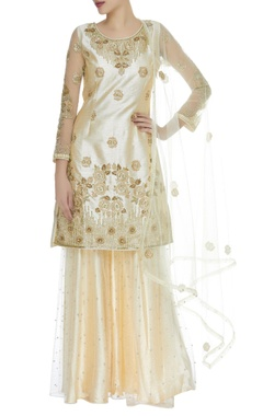 Sequin embroidered sharara & kurta set