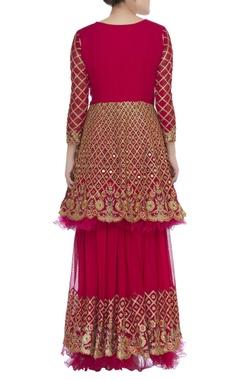 Embellished peplum blouse with lehenga & dupatta