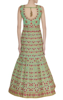 Hand embroidered mermaid style anarkali gown