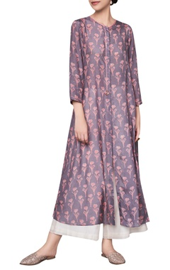 Anita Dongre Hand block wildflower & vine motifs printed ranthambore jungle inspired tunic