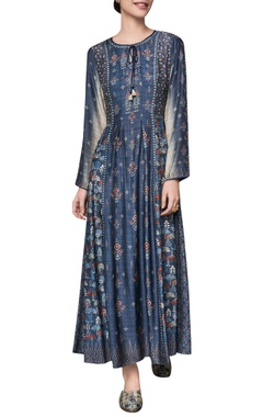 Anita Dongre Ranthambore jungle print tunic with keyhole neckline