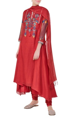 Anita Dongre Lush tress & songbirds inspired gota patti work & embroidered kurta set