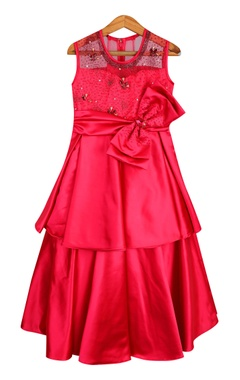 Sugar Candy Layered embroidered gown with big bow