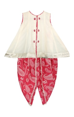 Flared top with printed dhoti