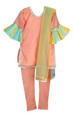 Sugar Candy Frill sleeves kurta with pants and dupatta
