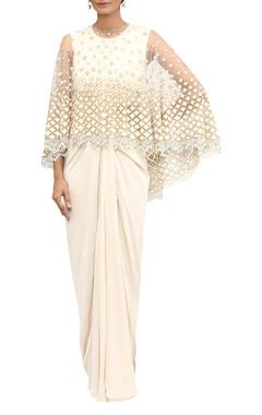 Resham & sequin embroidered cape