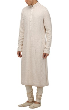 Tarun Tahiliani - Men Chikankari kurta with churidar