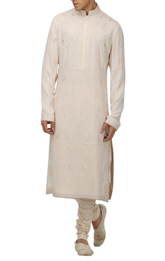 Tarun Tahiliani - Men Chikankari embroidered kurta set