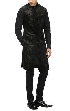 Tarun Tahiliani - Men Burnout effect bandhgala & kurta set
