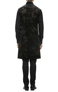 Burnout effect bandhgala & kurta set