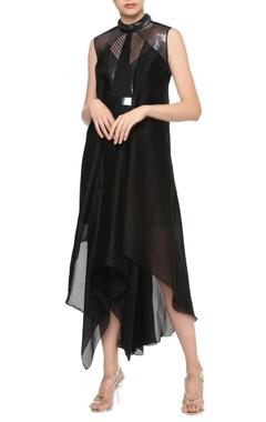 Amit Aggarwal Asymmetric dress with belt