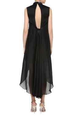 Asymmetric dress with belt