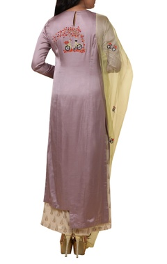 Asymmetric bicycle Embroidered kurta set