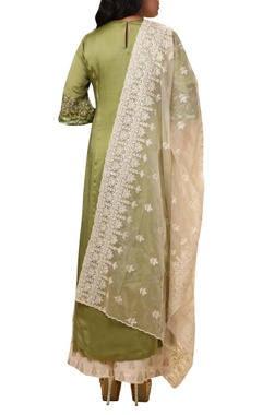 Embroidered kurta set with palazzo