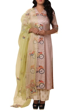 Vedangi Agarwal Machine embroidered kurta palazzo set