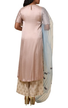 Leaf & bicycle embroidered kurta Palazzo set