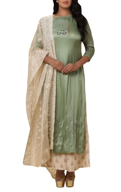 Vedangi Agarwal Machine embroidered kurta with palazzo & dupatta