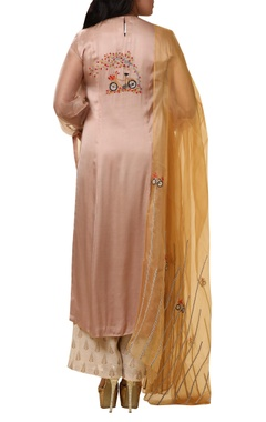 Sheer sleeves kurta with Palazzo & dupatta