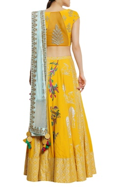 Embroidered lehenga set with tassel detail