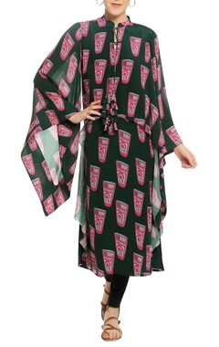 Masaba Glass print long tunic with flared sleeves