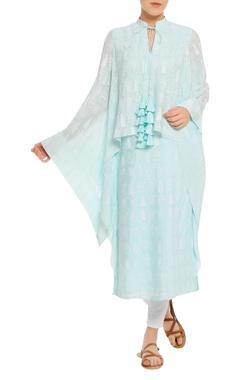 Printed kaftan tunic with dori closure