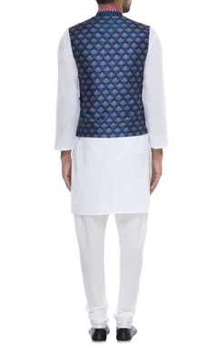 Multi Colored Printed Nehru Jacket